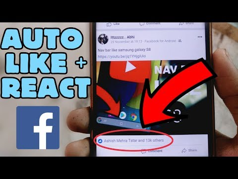 How to get auto like and reaction on facebook    No points required