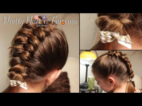 How To Dutch Infinity Braid | Beginner Hairstyles | Pretty Hair is Fun