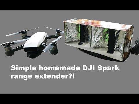 Homemade DJI SPARK aluminium foil range extender + TEST AND RESULT