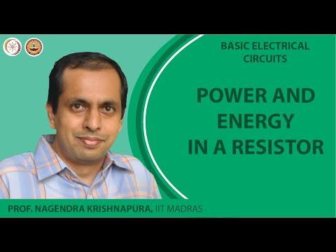 Power and energy in a resistor