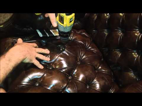 Repair / Restore Leather Tufted Wingback Chair Tutorial