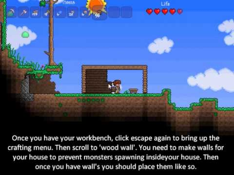 Terraria: Making your first shelter!