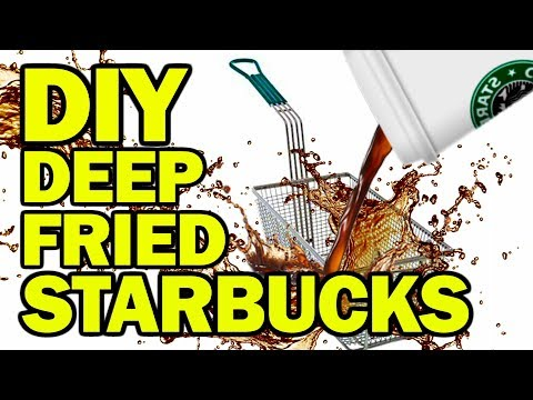 DIY Deep Fried Starbucks - Man Vs Fryer