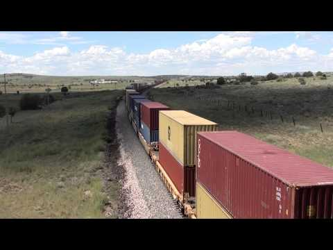 The longest train ever seen. Arizona crossing route 66 driving to Hackberry
