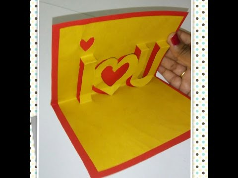 How to Make A I love U Pop Up Card, Valentine's Day Pop-up Card Tutorial