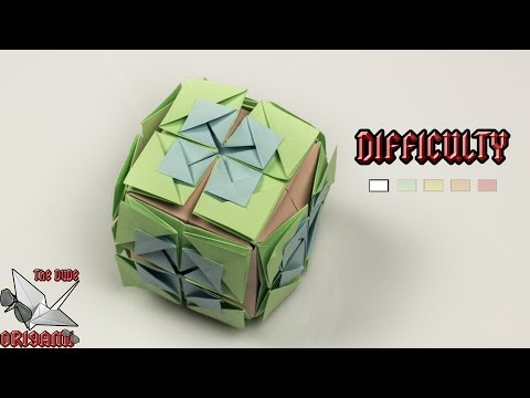 [ORIGAMI TUTORIAL] Buttonhole Flower Cube || Decorations