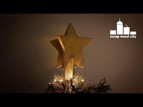 DIY wooden Christmas tree star