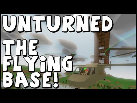 THE FLYING BASE! UNTURNED Flying Helicopter Skyscraper Base!!!