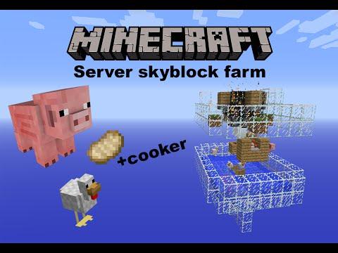 Minecraft   server skyblock farm   Passive mob farm: Pig & Chicken!!