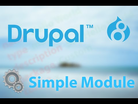 Drupal 8: Create a Simple Module