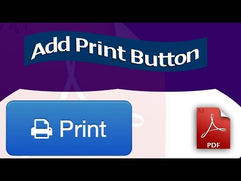 Print Button Create- How to add Print Button to existing PDF form