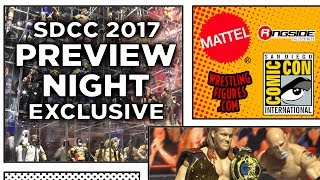 WWE SDCC 2017 - WEDNESDAY Preview Night Figure Display! - NEW Wrestling Figures San Diego Comic Con