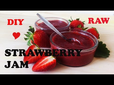 RAW strawberry JAM/MARMALADE (naturaly sweetened) sugar free