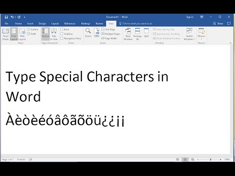 Type Spanish Letters in Microsoft WORD Without Changing Keyboard Layout