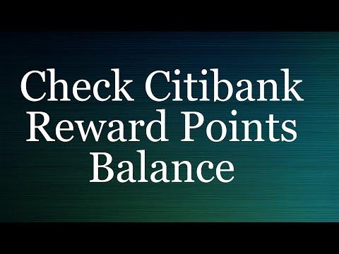 Citibank Reward Points Balance