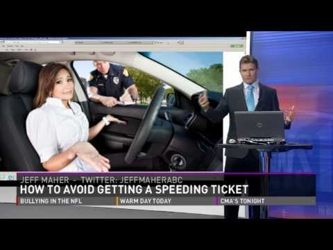 How to avoid getting that speeding ticket