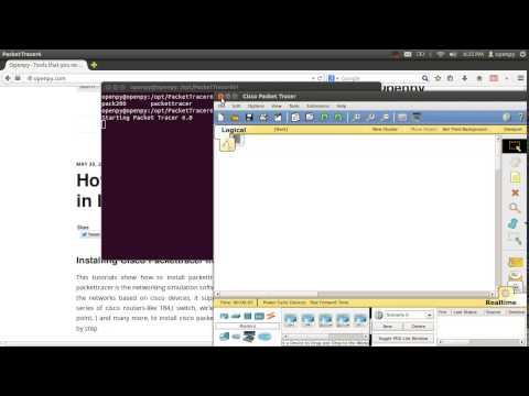 Installing packettracer in all Variants of Linux  Ubuntu 14.04, Fedora 20, Linux Mint. Debian