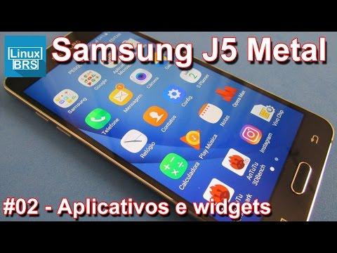Samsung Galaxy J5 2016 Metal - Aplicativos e widgets