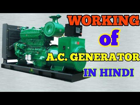 Working of a.c. generator in hindi