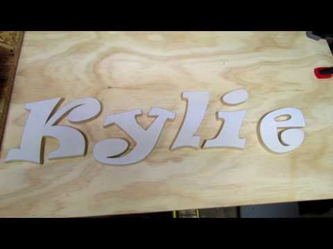 How to make a wood name sign.