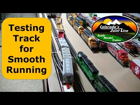 Testing Model Train Tracks and Switches