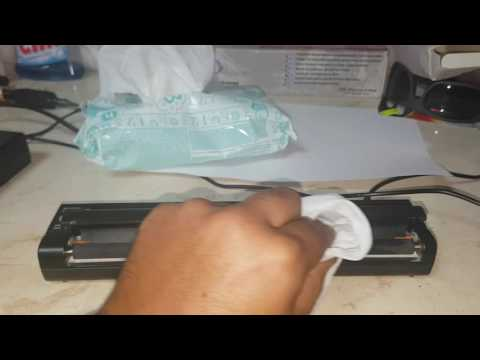 how to clean your tattoo printer.