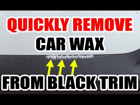 How To Remove Wax / Polish From Black Trim - EASY!