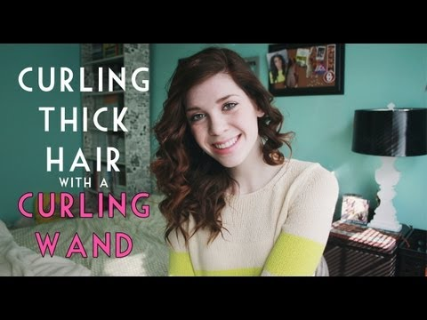 Curling Thick Hair with a Curling Wand ☆ beautymunson
