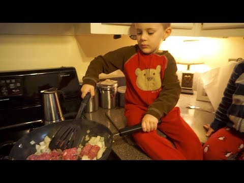 Toddlers cooking by themselves...