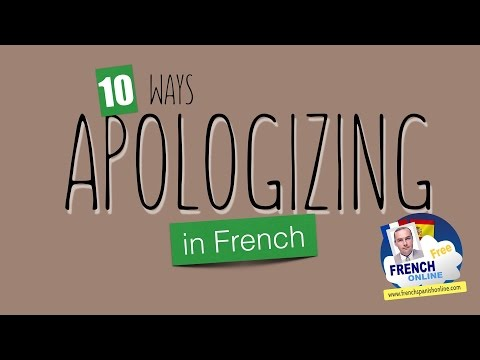 apologizing in french: 10 ways