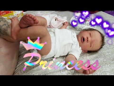 Silicone Baby Gets A Bath & Outfit Change - Life Like Silicone Doll