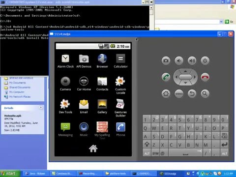 How to Install .APK file in Android Eclipse Emulator .mp4