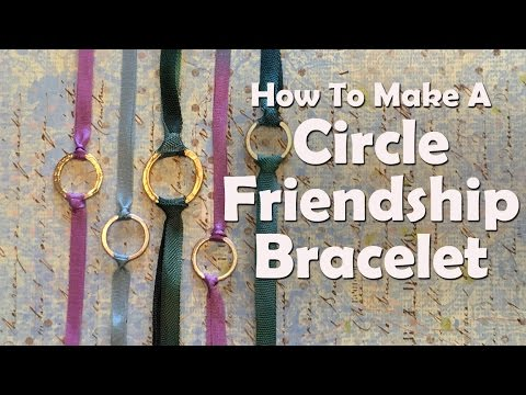 How To Make Jewelry: How To Make A Circle Friendship Bracelet