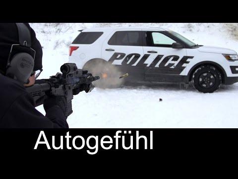 Ford Police Interceptor Ballistics bullet proof armor Testing schussfeste Panzerung - Autogefühl