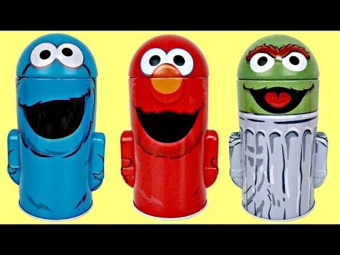 Sesame Street Coin Money Banks for Kids with Elmo, Cookie Monster & Oscar