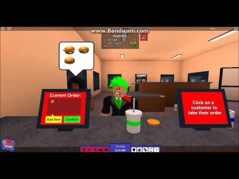 Working at the burger place in rocitizens for 30 minutes!