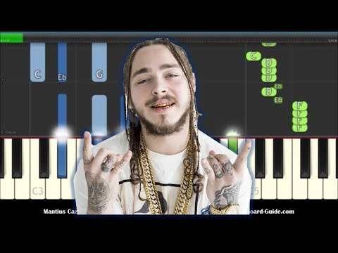 Post Malone Better Now Easy Piano Keyboard Tutorial w Chords