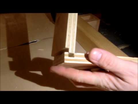 Three drawers from plywood
