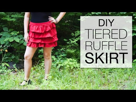 How to Sew a Tiered Ruffle Skirt - DIY Tutorial
