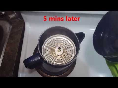 How to use coleman 9 cup coffee percolator on stove step by step