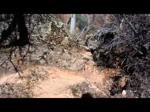Backcounty rock cairns show the way of trail s on many isolated hiking trails-Zion National Park