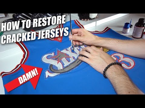 How to Restore Faded & Cracked Jerseys | A Quick Thrift Fix