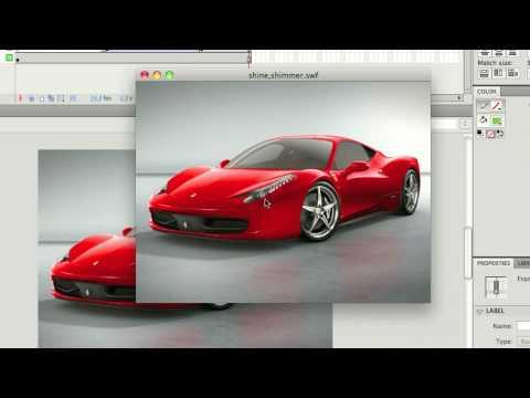 Web Design Tutorial - Shimmer/Shine in Flash