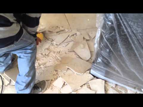 Before Wood Floor Installation, 949-716-6611  We Are Removing Porcelain Tile