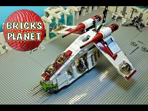 Republic Gunship 75021 LEGO Star Wars set - Review, Stop Motion, Time-Lapse Build