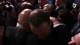 WATCH: Emotional Leo Varadkar embraces his parents moments after he is announced as new leader of...