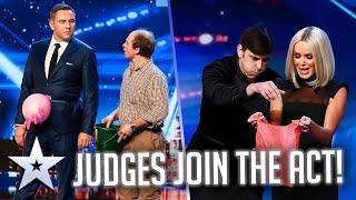 When JUDGES get involved! | Britain's Got Talent