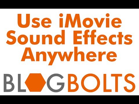 How to Use iMovie Sound Effects Outside of iMovie In Other Applications