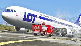 Boeing 767 LOT Landing Without Landing Gear | GTA 5 Version