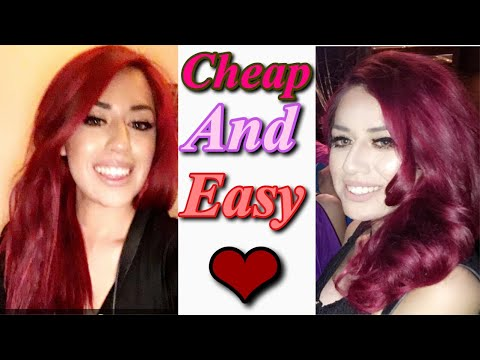 How to get red / burgundy hair